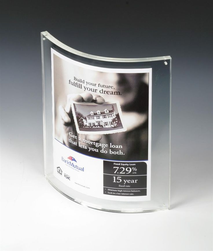 85 x 11 magnetic picture frame for tabletop curved box clear acrylic