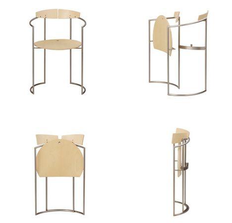 elegant folding modern chair  http://dornob.com/elegance-to-go-set-of-4-classy-folding-tables-chairs/