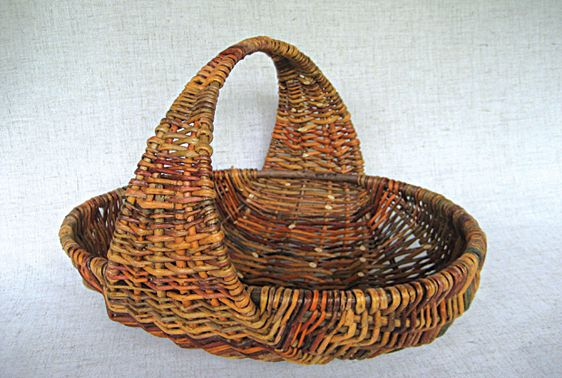 Willow basket by Jo Campbell-Amsler, instructor at the John C. Campbell Folk…