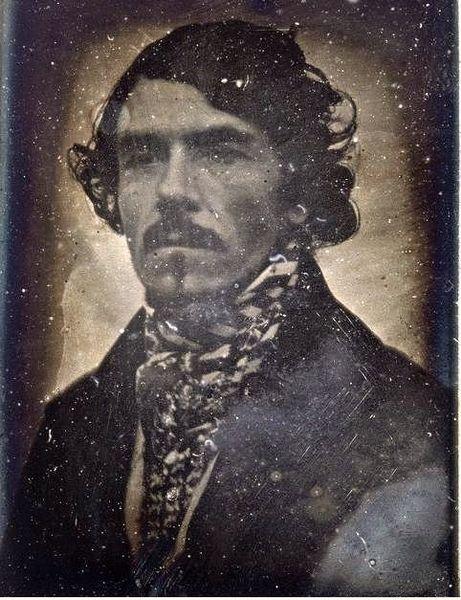 Ferdinand Victor Eugène Delacroix (1798-1863), daguerreotype portrait taken in 1842 by his cousin Leon Riesener.