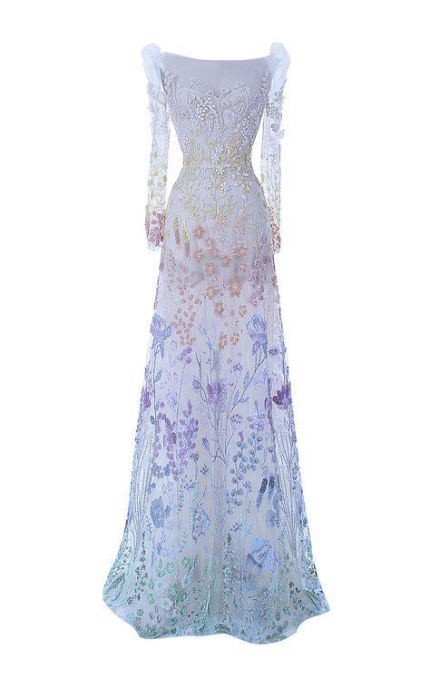 The Enchantress Gown by HAMDA AL FAHIM for Preorder on Moda Operandi