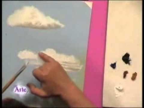 ▶ Ejercicio de cielo en acuarela - YouTube