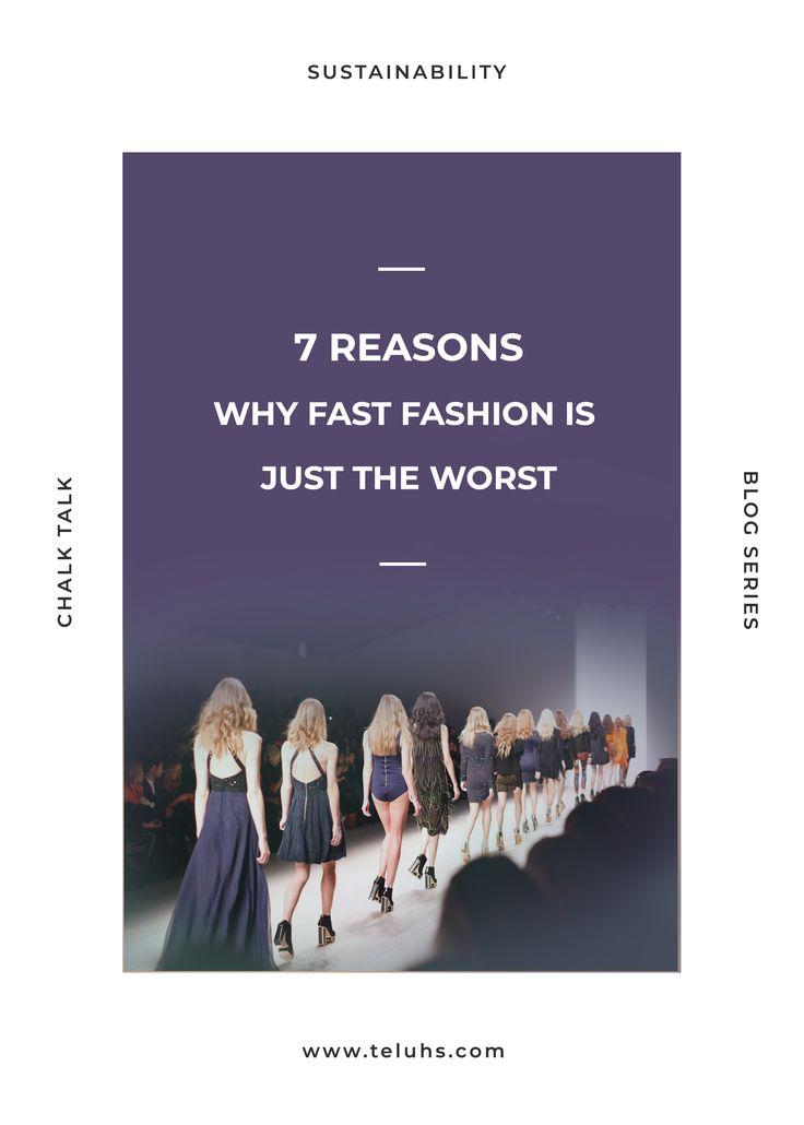Fast fashion sucks! Slow fashion, sustainable fashion, environmentally friendly. Image from London's fashion week. #sustainablefashion #slowfashion #revolution #choosewell #buyless #ethicalfashion