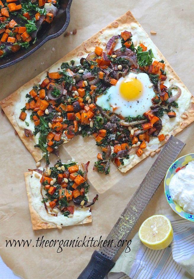 Ricotta Sweet Potato Flatbread with Eggs!