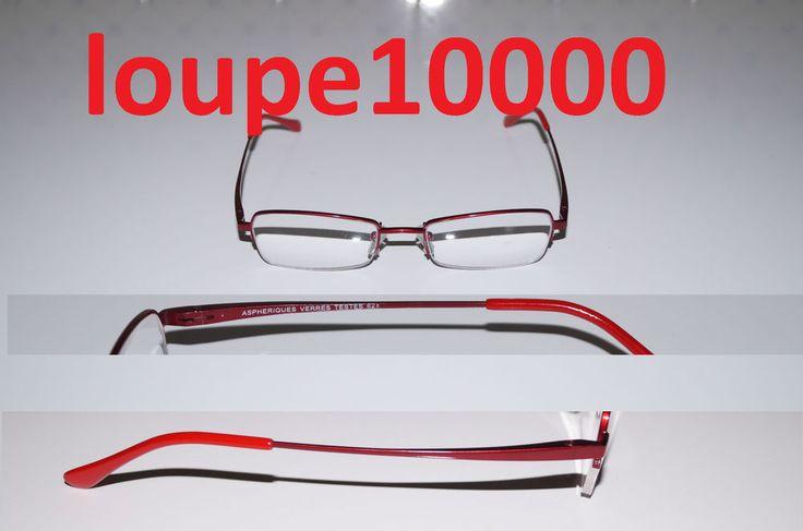lunettes loupes de lecture pré montées métal ROUGE réf 1186R N° 204B