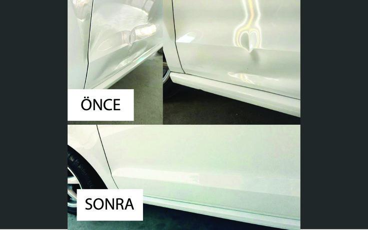 Kapı hasarı boyasız göçük düzeltme uygulamamız  #otopars #boyasız #göçük #düzeltme
