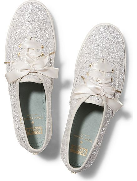 Wedding shoes! Keds Keds x kate spade new york Champion Glitter Wedding