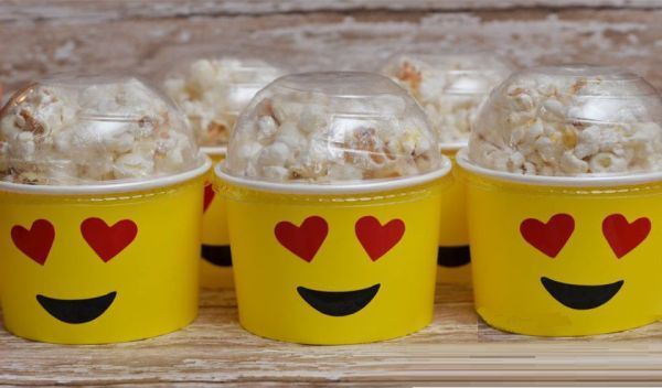 Emoji cartons for popcorn perfect for a movie night & or sleepover