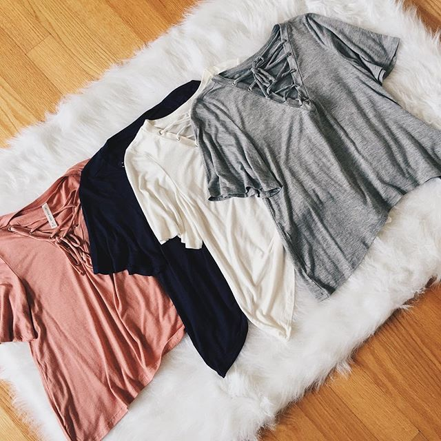 Brooklyn Lace Up Tops $10 in the sale! Limited time only  shopdevi.com • #shopdevi