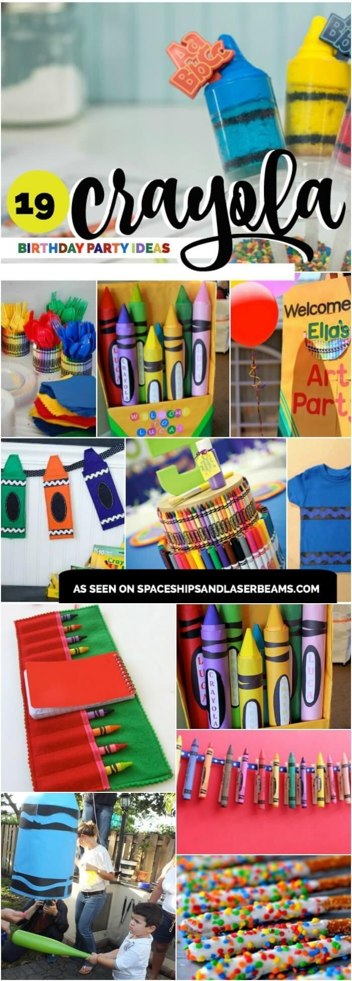 19 Creative Crayola Crayon Party Ideas via /spaceshipslb/