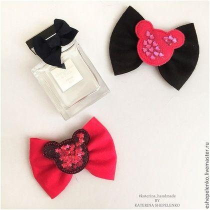 Детская бижутерия ручной работы. Ярмарка Мастеров - ручная работа. Купить Повязка для волос Минни Маус minnie mouse. Handmade.
