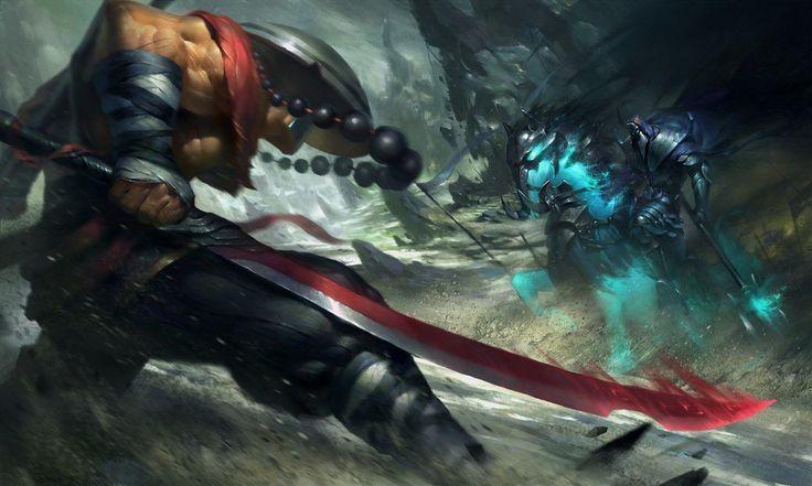 Dota 2 - artwork, Juggernaut and Abaddon