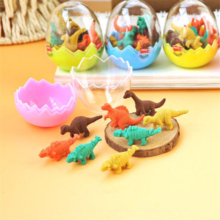 8 pcs/lot Mini Cute Kawaii TPR Eraser Creative Dinosaur Eraser For Kids Gift Korean Stationery Free Shipping 874