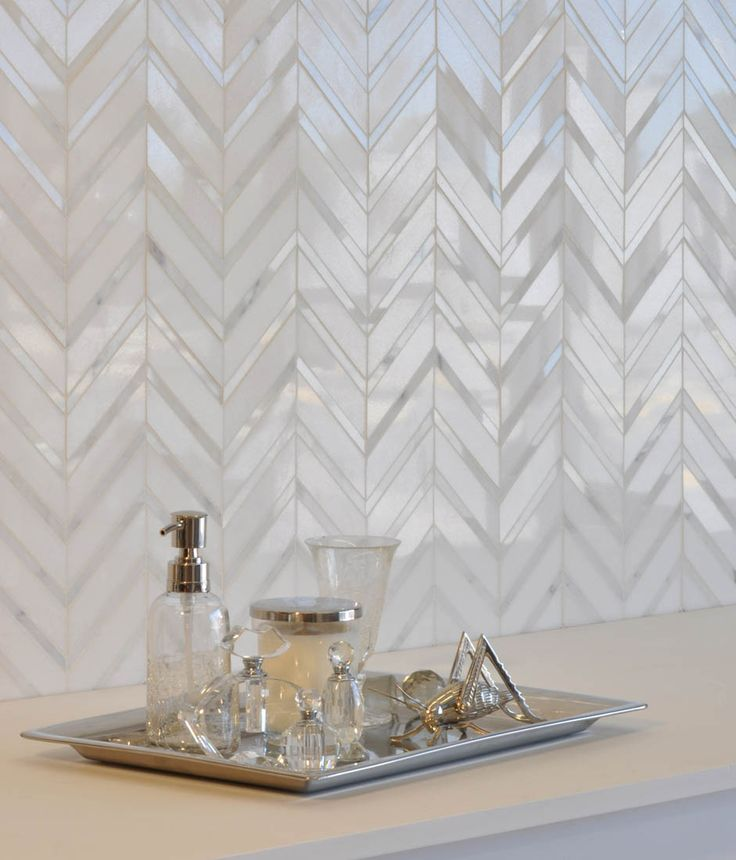 I guess this answers my question about whether or not a chevron pattern for a back splash would be too busy. Love it.