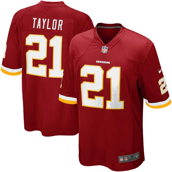 Mens Washington Redskins Sean Taylor Nike Burgundy Retired Player Game Jersey