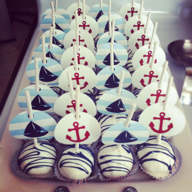 Maybe this one??? Cupcake topper alternative. Anchor and sailboat flags.