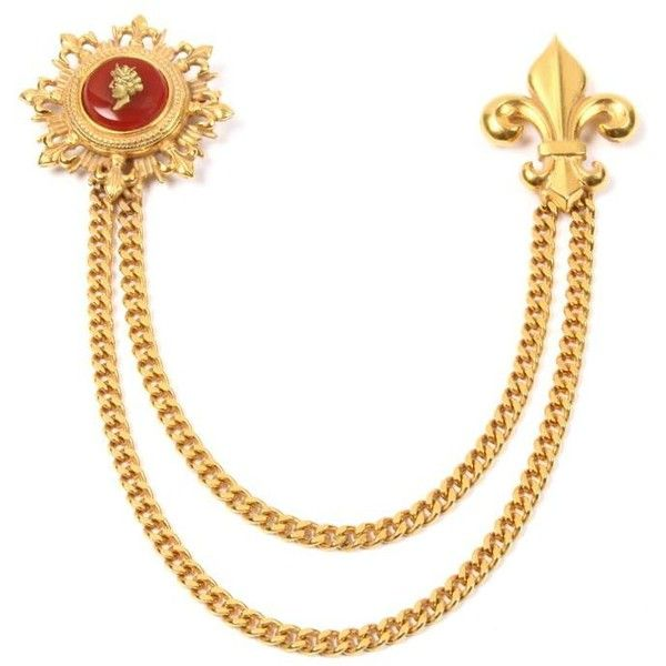 Royal charm sovereign red cameo gold pin (€295) ❤ liked on Polyvore featuring jewelry, brooches, red jewelry, gold jewellery, red charms, gold jewelry and 24k gold charms