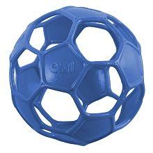 Piłka, gryzak Oball Soccer 13 cm - niebieski