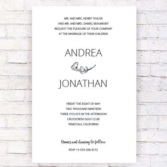 Jewish Wedding Invitation Template Hand Made Designed Etsy Wedding Invitation Templates Jewish Wedding Invitations Wedding Invitations
