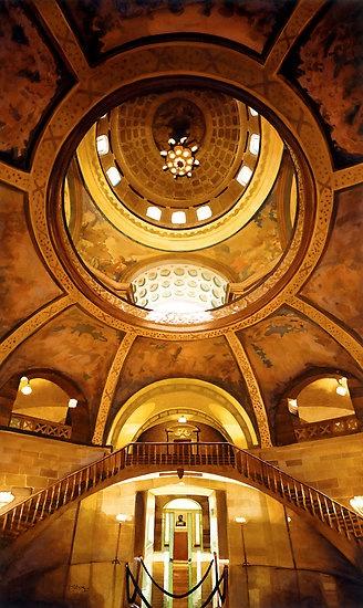 """""Missouri Capitol"" Jefferson City Watercolor"" by Paul Jackson | Redbubble"