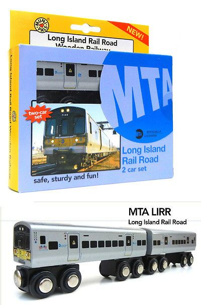 Wooden 2595: Munipals Mp01-7201 Wooden Train Metro North Railroad Mnrr 2 Car Set New In Box -> BUY IT NOW ONLY: $49.99 on eBay!