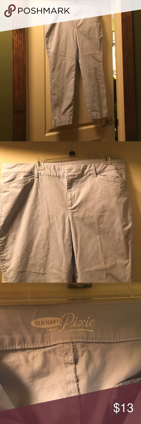 Pixie Style Chinos for Women Excellent condition chino Pants by Old Navy - Pixie Style.  Color is light blue size 16.  Very cute and flattering.  Thank you! Old Navy Pants Ankle & Cropped