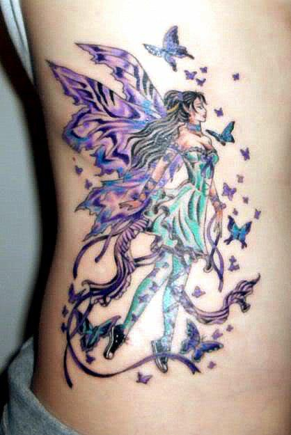 Extraordinary Fairy Tattoo...but the tiny sneakers make it very unique.