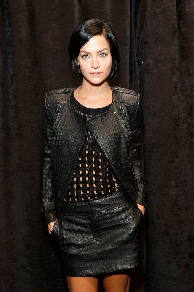 Leigh Lezark poses backstage at the Rachel Zoe fashion show on September 11, 2013 in New York City.