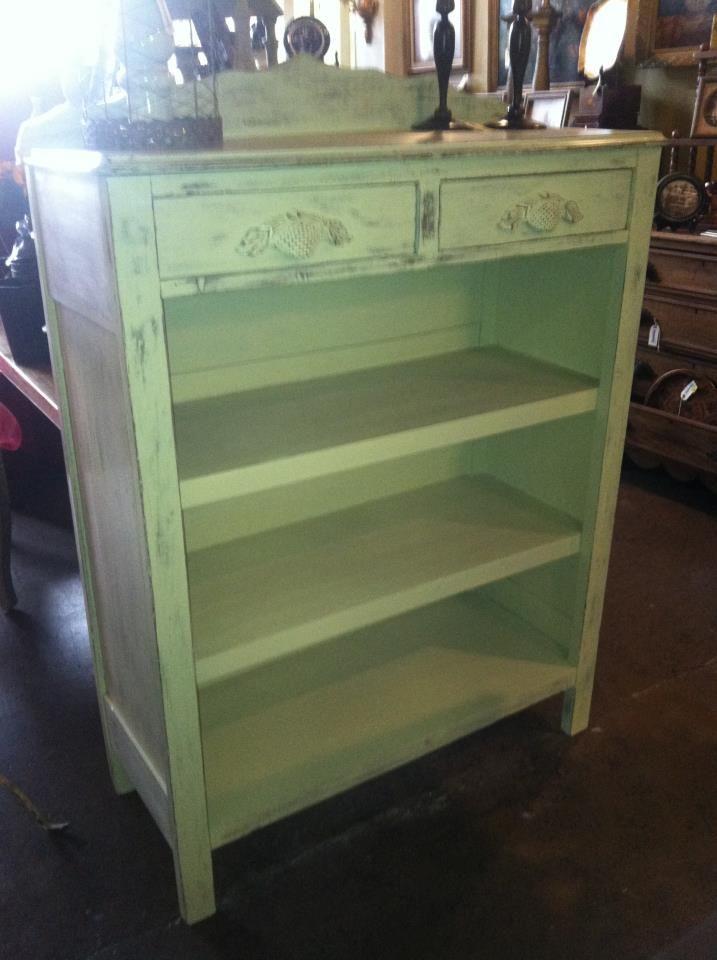 Antique dresser remade into bookshelf..