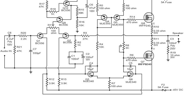 irfp250 mosfet amplifier, mosfet power amplifier circuit