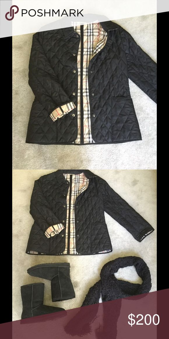 Authentic Burberry quilted jacket Black Burberry quilted jacket with signature pattern lining.  ✔️Questions ✔️More pictures  ✔️Offers 🚫Trades 🚫Mercari 🚫PayPal Burberry Jackets & Coats