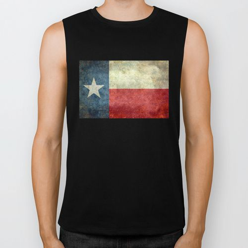 """The State flag of Texas - The """"Lone Star Flag"""" of the """"Lone Star State"""" Biker Tank by LonestarDesigns2020 - Flags Designs +   Society6"""