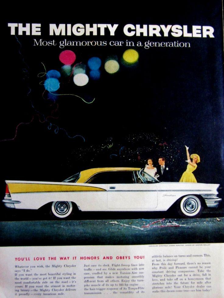 1957 Chrysler Saratoga Vintage Advertisement Automotive Wall Art Man Cave Decor Original Automobile Magazine Print Ad Classic Car Ephemera by RelicEclectic on Etsy