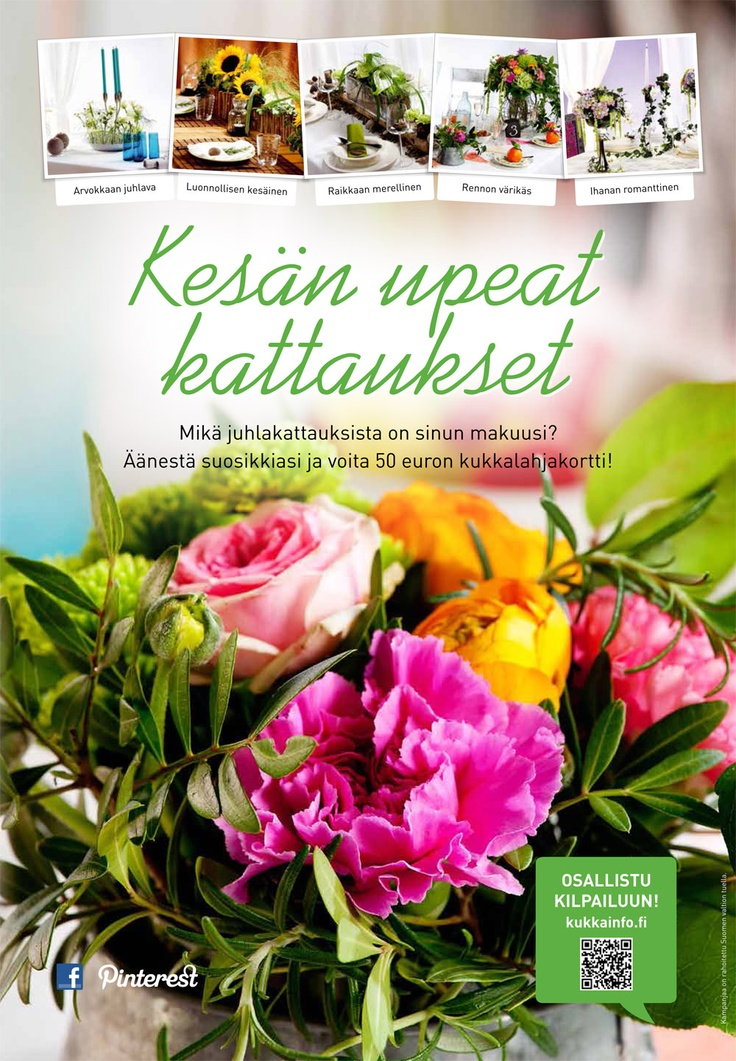 kukkainfo.fi -> Kesän upeat kattaukset 2013