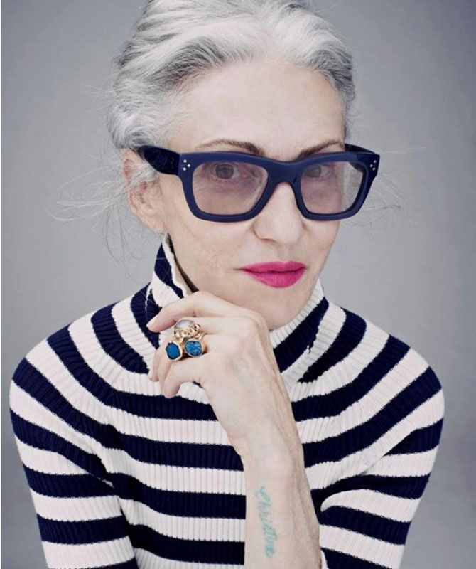 linda rodin - stylist and model, owner of Rodin beauty oils and creams