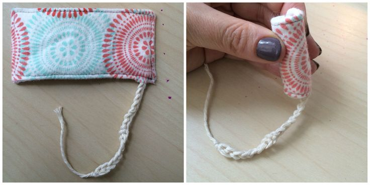 my very first reusable cloth tampon prototype! and it turned out better than I had hoped.