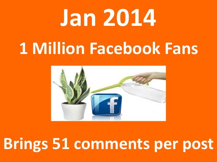 A Million Facebook Fans brings 51 Comments per post by Simplify360 via slideshare