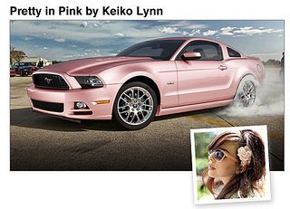 Pearl pink Mustang by keikolynnsogreat, for the girly girl in your life. It's sweet!