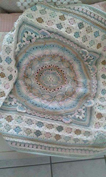 Sohie - thru pt 4 with a different, sweet, granny square border.  Nice color changes