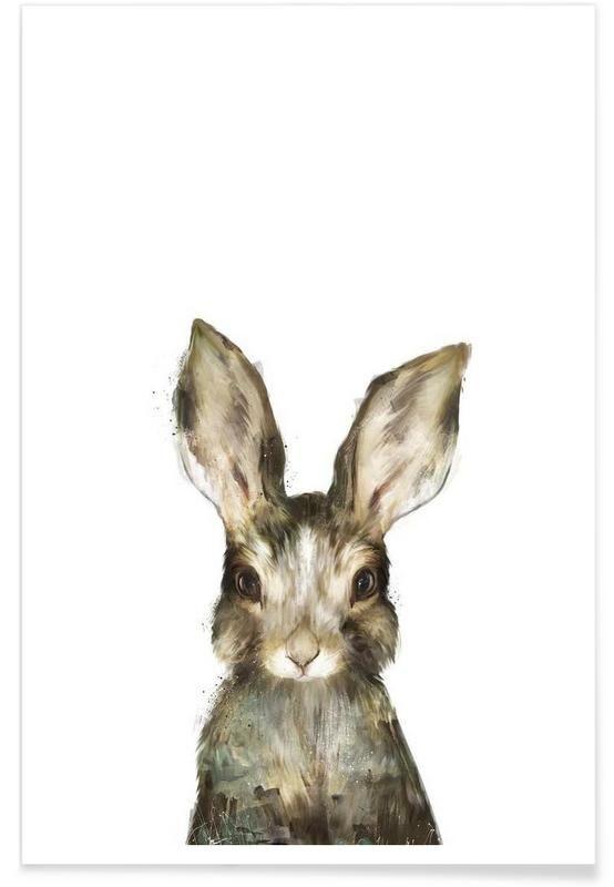 Little Rabbit als Premium Poster von Amy Hamilton | JUNIQE