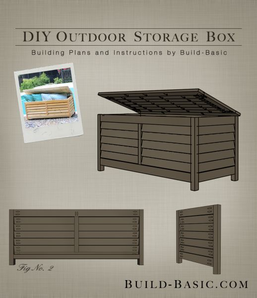 Build an Outdoor Storage Box // Get the DIY Building Plans at Build-Basic.com