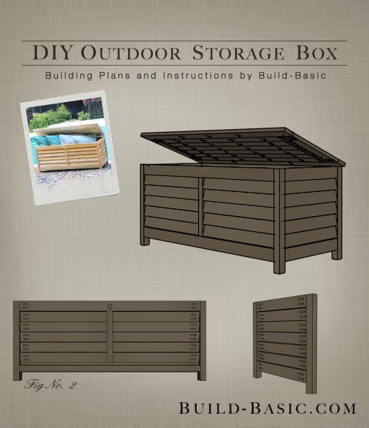 Build a DIY Outdoor Storage Box - Building Plans by @BuildBasic www.build-basic.com