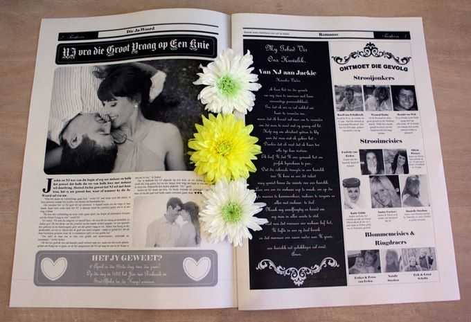 Inside their wedding program favor, the sweet details of their proposal was revealed! A bridal party feature was also included alongside a letter written by the groom for his bride.