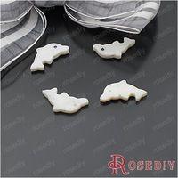 (22206) módne šperky Prírodné Korálky, 18 * 9mm prírodné sladkovodné Shell Dolphin 10ks
