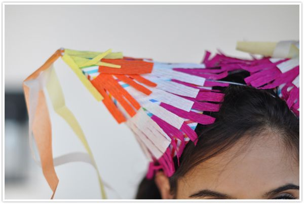 How to make a crepe paper hat {and party dress :) }