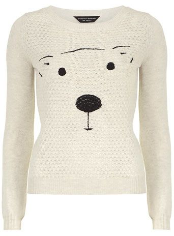Cute oat quilted bear jumper - Knitwear - Cosy Collection  - Clothing