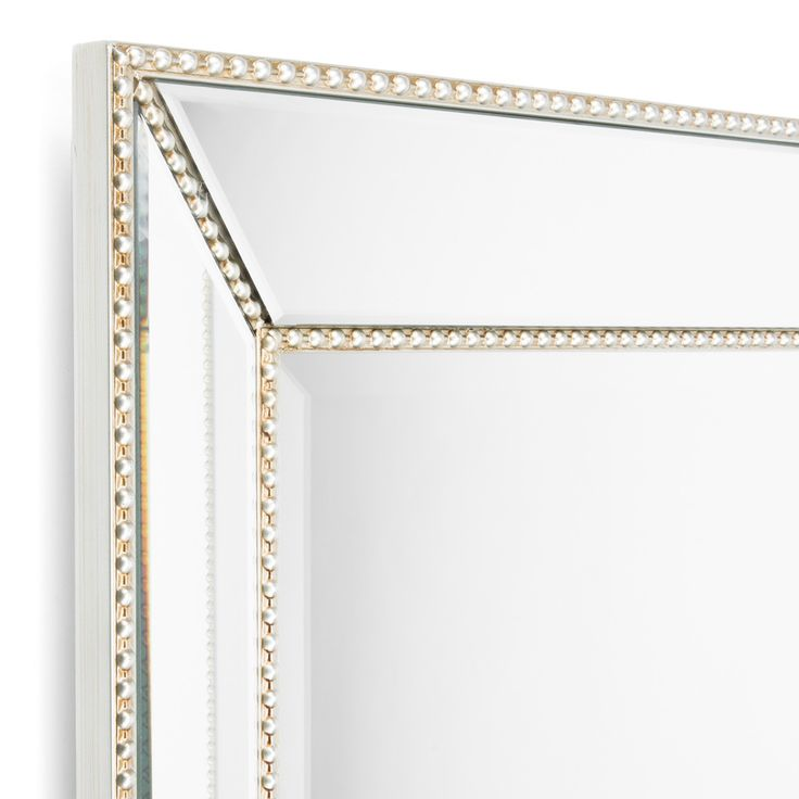 Allen Roth 40 In L X 30 In W Silver Beveled Wall Mirror