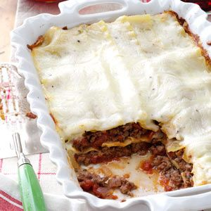 Lasagna with White Sauce this is dinner tomorrow.  I added Parmesan to the white sauce. Can't wait to eat it!
