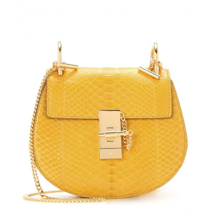 Chlo¨¦ - Drew Python Shoulder Bag - The curved silhouette is ...