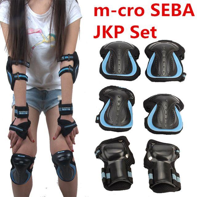 Original m-cro SEBA JKP Conjunto Equipo de Protección, PVC de alta Resistencia, Engranajes Establece para Patines en línea rodillo Patineta Scooter de protección